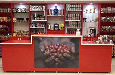 رست و پخش انواع دانه های قهوه